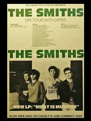 """The Smiths MEAT IS MURDER TOUR 16"""" x 12"""" Photo Repro Tour Poster"""