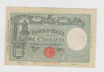 Italy Paper Money  one old note vf