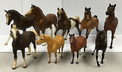 Traditional 9 Breyer Horses Lot of Varying Sizes