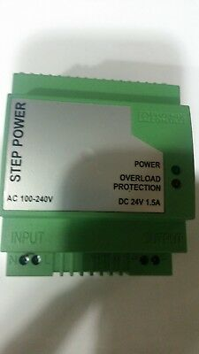 Phoenix contacts 24VDC Precision Power Supply P/N Step-PS-100-240AC/24VDC/1,5