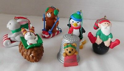 6 Avon Ornaments For Children Kids All Different In Boxes