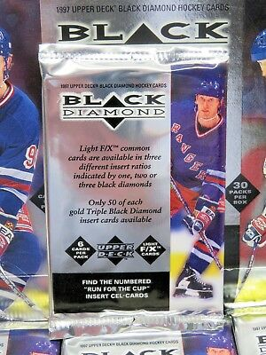 1996-97 UD Black Diamond Hockey Factory-Sealed PACK - Thornton, Marleau RCs