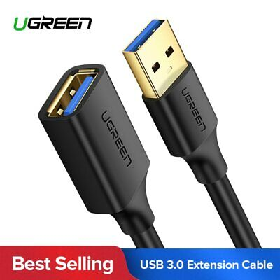 Ugreen USB 3.0 Extension Cable USB 2.0 Extender Data Cord for Smart TV SSD PS4