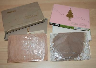 2 Pairs Hilton STOCKINGS Vintage in Box 12 Denier AVERAGE Sz 10 & 9.5 New Nylons