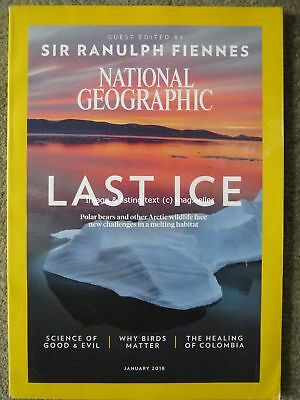 National Geographic January 2018 Sir Ranulph Fiennes Colombia Birds Arctic