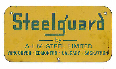 Steelguard Fence Sign 2 Colors Metal English Advertising Sign Canadian