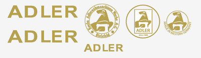 Adler Household Sewing Machine Restoration Decals