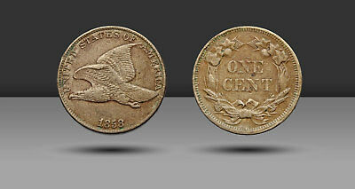 Flying Eagle Small Cent, 1858 Large Letters, Low leaves variety, FS-901, XF