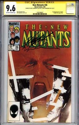 NEW MUTANTS #26 CGC 9.6 SS CHRIS CLAREMONT & BILL SIENKIEWICZ (1st full Legion)
