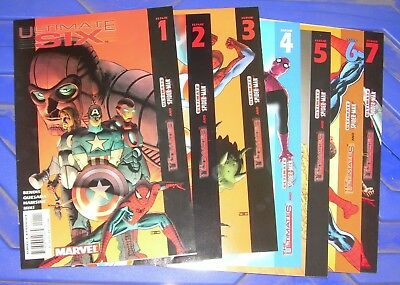 ULTIMATE SIX 1-7 Marvel Comics Bendis, Quesada AVENGERS