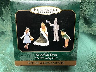 Hallmark Keepsake Ornament Miniature Wizard Of OZ King of the Forest Set of 4