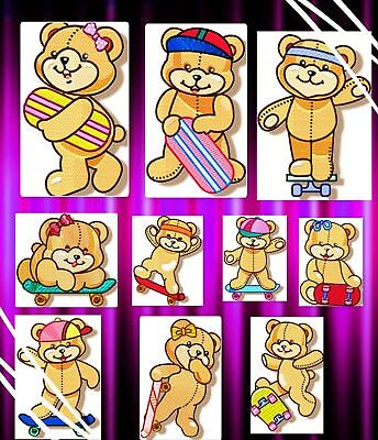 Happy Skater 10 Machine Embroidery Designs  Includes 2 Sizes