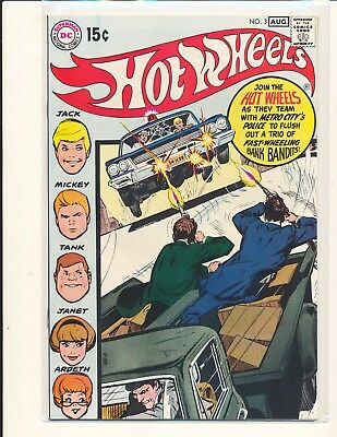 Hot Wheels # 3 - Neal Adams cover VF Cond.