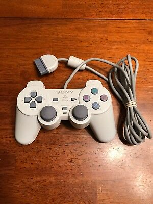 PSone Ps1 Sony PlayStation Wired Analog Controller White SCPH-110