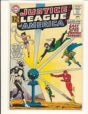 Justice League of America # 12 - 1st Dr. Light VG Cond. subscription crease