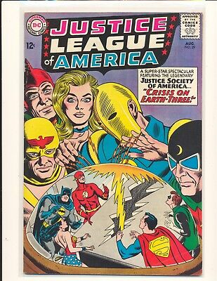 Justice League of America # 29 - 1st SA Starman & Crisis on Earth-Three VG+ Cond