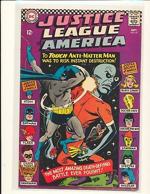Justice League of America # 47 VG Cond. subscription crease