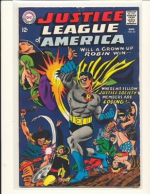 Justice League of America # 55 - intro Earth-Two Robin G/VG Cond. sub crease