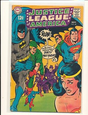 Justice League of America # 66 - Neal Adams cover VG Cond.