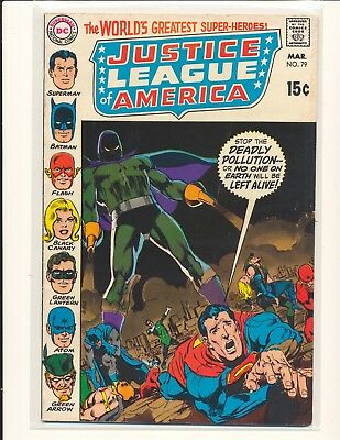 Justice League of America # 79 - Neal Adams cover VG/Fine Cond.