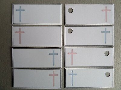 CHRISTENING FAVOUR TAGS *Boy/Girl* BAPTISM FAVOUR TAGS, LABELS. BABY CHRISTENING
