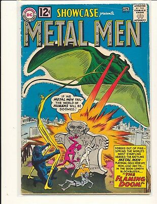 Showcase # 37 - 1st Metal Men Poor Cond. no back cover
