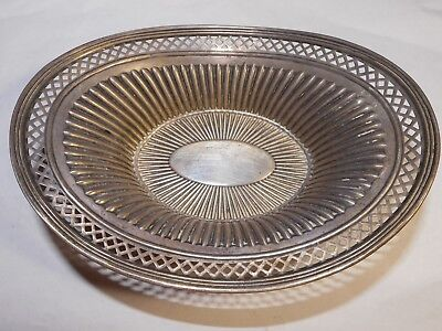 "Antique SSMC Sterling Silver 7 1/4"" Pierced Ribbed BOWL 100 year old No Reserve"
