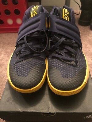 brand new 2eb5d 14742 Men s Nike Kyrie 2 II 819583-447 Navy and Gold - Size ...
