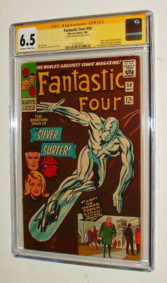 1966 Fantastic Four #50 Comic Book Signed By Stan Lee Cgc Graded 6.5 Condition