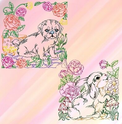 On The Farm Colourline  No 1 And 2.. 24 Machine Embroidery Designs Cd 3 Sizes