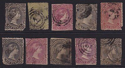 South Africa  Queen Victoria Transvaal Stamps Circa 1878