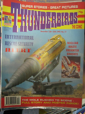 Thunderbirds Fleetway # 31 Gerry Anderson Stingray Mike Noble pic pullout