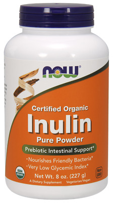 Inulin Prebiotic FOS Powder Now Foods 8 oz Powder