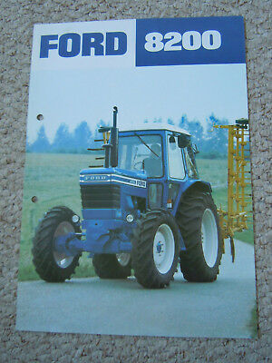 @Vintage Ford 8200 Tractor Spec Sheet@