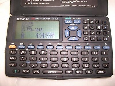 Oregon Scientific EX3501 48kb model PDA Pocket Organiser New Batteries + Instruc