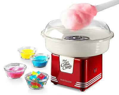 Cotton Candy Floss Machine Commercial Electric Retro Red Fluffy Simple Clean NEW