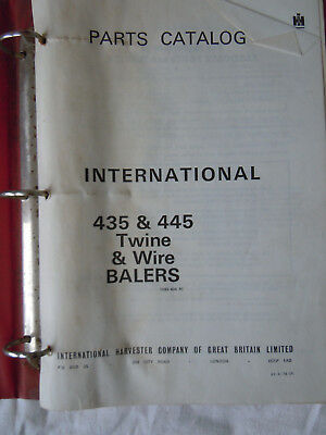 @Vintage International 435 & 445 Twine & Wire Balers Parts Catalogue@