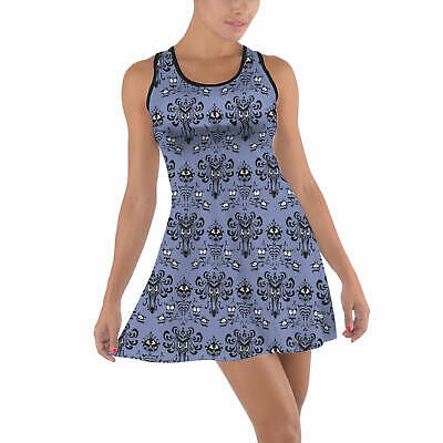 Haunted Mansion Wallpaper Cotton Racerback Dress XS - 5XL