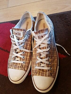 52f5178ca4fe MENS LOW TOP All Star Checkered Converse Trainers Size Uk 12 - EUR ...