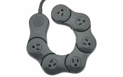 Pivot Power Flexible 6 Outlet Surge Protector by Quirky Black V32941