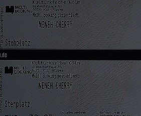 2 Tickets - Neneh Cherry - Carlswerk Victoria - Köln