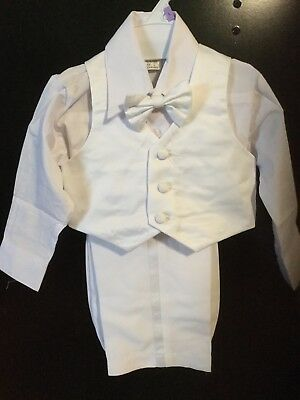 Baby boy 5 pcs  White Tuxed size  L for 18-24 mos