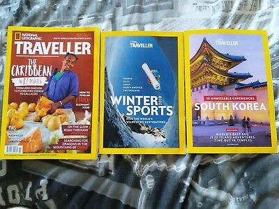 National Geographic Traveller November 2018 + Winter Sports / South Korea mags