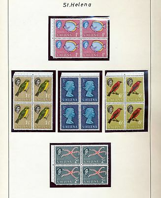 ST HELENA 1961/70 Birds Fish Red X Churchill MNH (60+Items) (SK 328