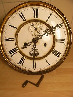 Antique Vienna wall clock movement for spares or repair