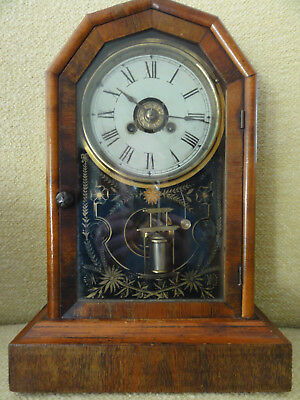 Alte Standuhr USA ca 1850, Jerome&Co New Haven,1 Day strike and alarm movement