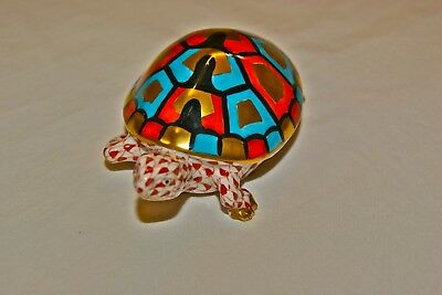Vintage Herend Hungary turtle # 260 approx 4 inches and beautiful limited