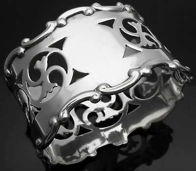 Good Oval Napkin Ring - Sterling Silver No Initials - Birmingham 1922