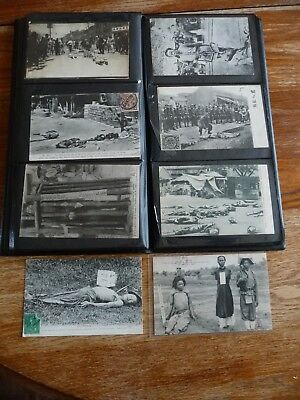 lot carte postale ancienne asie indochine tonkin supplice de rue execution