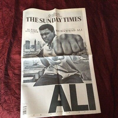 The Sunday Times Newspaper Muhammad Ali Tribute - 16 Page Special Supplement